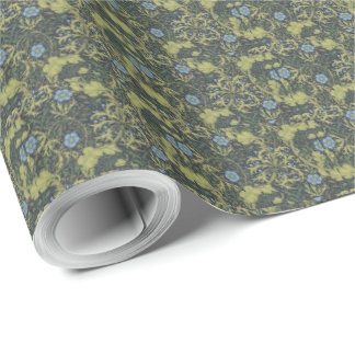 1890 Vintage William Morris Seaweed Wrapping Paper