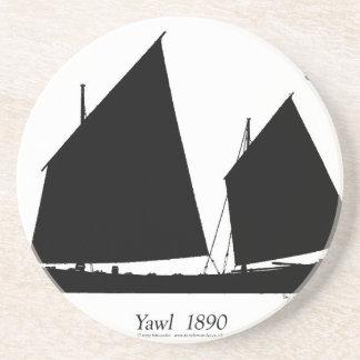 1890 yawl - tony fernandes drink coaster