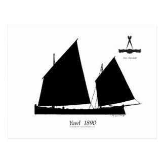 1890 yawl - tony fernandes postcard