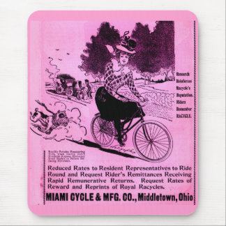 1890s bicycle ad The Racycle Mouse Pad