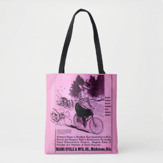 1890s bicycle ad The Racycle Tote Bag