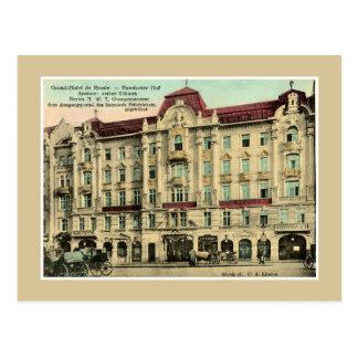 1890s vintage Berlin Grand Hotel Russia Postcard