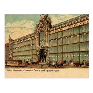 1890s vintage Berlin Victorian department store Postcard