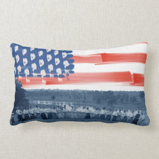 1890's  Women Tug of War Tug-O-War American Flag Lumbar Pillow