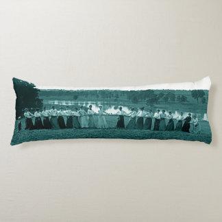 1890's Women Woman Tug-O-War Fox River green Body Pillow