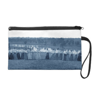 1890's Women Woman Tug-O-War Photo Tug of War blue Wristlet