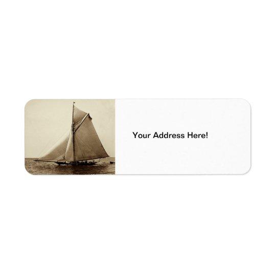 1891 American Yacht at Sea Return Address Label