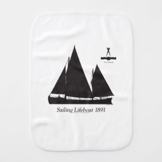 1891 sailing lifeboat - tony fernandes burp cloth