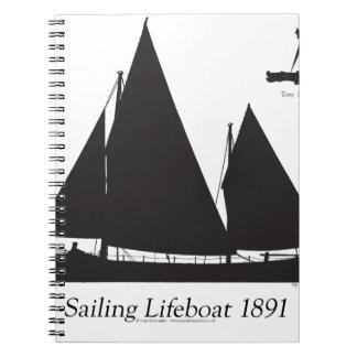 1891 sailing lifeboat - tony fernandes notebook