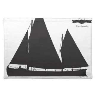 1891 sailing lifeboat - tony fernandes placemat