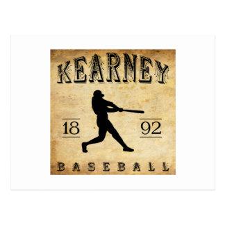 1892 Kearney Nebraska Baseball Postcard