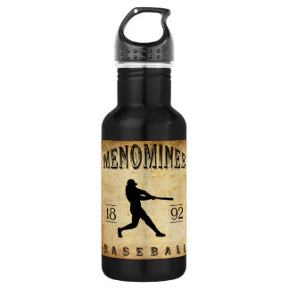 1892 Menominee Wisconsin Baseball 532 Ml Water Bottle