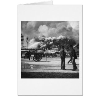 1892 WORLD COLUMBIAN EXPOSITION FIRE GLASS SLIDE CARD