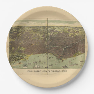 1893 grand view of Chicago Paper Plate