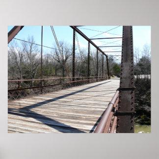 1893 Pratt Truss Bridge over Elk River Poster