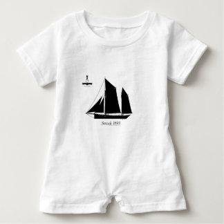 1893 sailing smack - tony fernandes baby romper