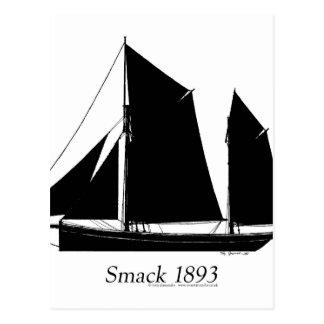 1893 sailing smack - tony fernandes postcard