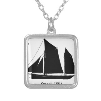 1893 sailing smack - tony fernandes silver plated necklace