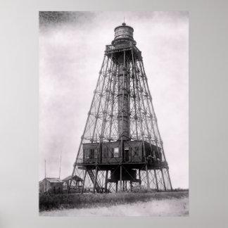1893 SAND KEY LIGHT - KEY WEST POSTER