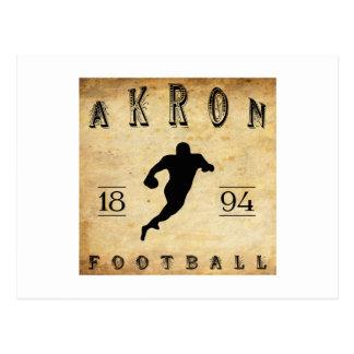 1894 Akron Ohio Football Postcard