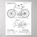 1894 Elliptical Gear Bicycle Design Patent Print