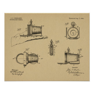 1894 Pocket Camera Patent Art Drawing Print