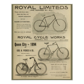 1894 Royal Cycle Works Bicycle Ad Art Poster