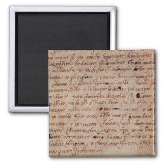 1895-9-15-503 W.34v Page of handwriting Square Magnet