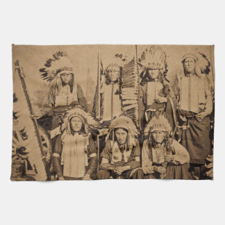 1895 Buffalo Bill Wild West Show Sioux Chiefs Kitchen Towel