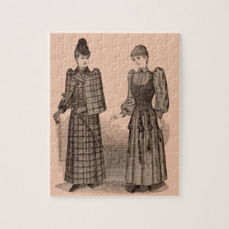 1895 Delineator print ladies coat and dress Jigsaw Puzzle