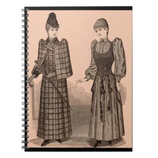 1895 Delineator print ladies coat and dress Notebook