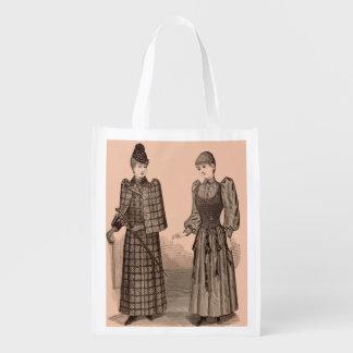 1895 Delineator print ladies coat and dress Reusable Grocery Bag