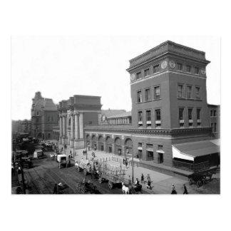 1895 Passenger Terminal Boston MA Postcard