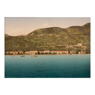 1895 The Grand Hotel, Gardone, Lake Garda, Italy Poster