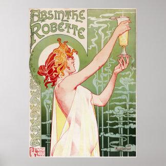 1896 Absinthe Robette Poster