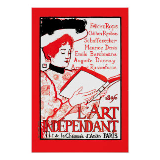 1896 Art Independant French literary cover Paris Poster