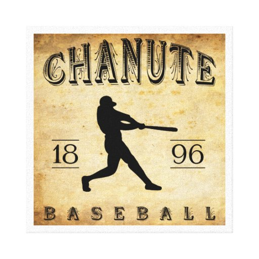 1896 Chanute Kansas Baseball Stretched Canvas Print
