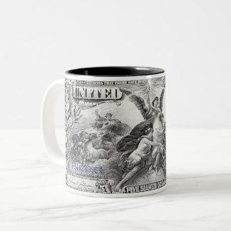 1896 Educational Series $5 Dollars Two-Tone Coffee Mug