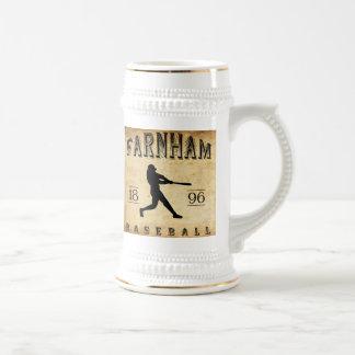 1896 Farnham Quebec Canada Baseball Beer Stein