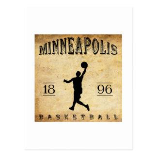 1896 Minneapolis Minnesota Basketball Postcard
