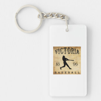 1896 Victoria British Columbia Canada Baseball Single-Sided Rectangular Acrylic Keychain