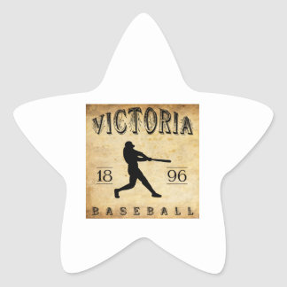 1896 Victoria British Columbia Canada Baseball Star Sticker