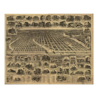 1897 Ocean Grove & Asbury Park, NJ Panoramic Map Poster