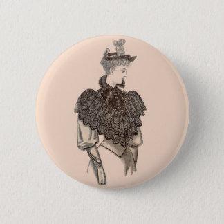 1897 Victorian woman 2 Inch Round Button