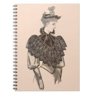 1897 Victorian woman Notebook