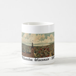 1898 Milwaukee, WI Birds Eye View Mug