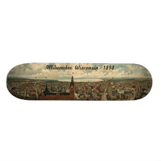 1898 Milwaukee, WI Birds Eye View Skateboard