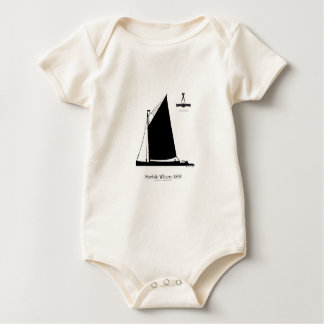 1898 Norfolk Wherry - tony fernandes Baby Bodysuit