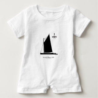 1898 Norfolk Wherry - tony fernandes Baby Romper