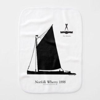 1898 Norfolk Wherry - tony fernandes Burp Cloth
